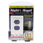 Outlet Coverplate with LED Night Lights Switch Cover Light Wall-mount Safety Guidelight with Light Sensor