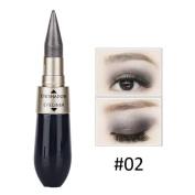 Creazy Double-end Waterproof Liquid EyeShadow Eyeliner Combination Easy To Wear Makeup