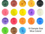 Mica Powder Sample Set - Best Starter Mica - 18 Colours for Soap & Cosmetics