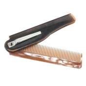 Ecurson Hairdressing Beauty Folding Beard Hair Comb Beauty Tools For Men