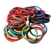 Coobbar 100Pcs Women Girl Elastic Hair Rubber Rope Scrunchie Ponytail Holder Bands hairband
