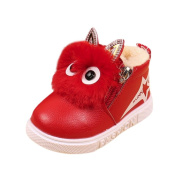 Baby Girls Animal Leather Boots, Leedford Baby Warm Cute Shoes Anti-Slip Sneakers