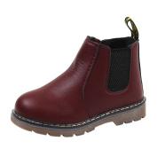 Boys Girls Ankle Oxfords Martin Boots, Leedford Kids Casual Zipper Sneaker Shoes