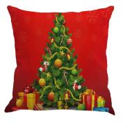 Christmas Pillow Case Mose Merry Christmas Cotton Linen Sofa Car Home Decor Throw Pillow Case Cover