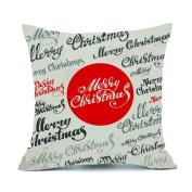 Mose Merry Christmas Cotton Linen Sofa Car Home Decor Throw Pillow Case Cover