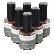 Beauties Factory 6 x UV Topcoat Nail Gel Top Coat Polish Surface Sealer