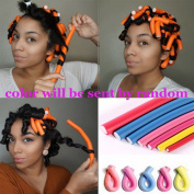 Spiral Hair Foam Curler Random Colour Soft Foam Bendy Set,Cheap Twist Curls Flex Rods Hair Roller Curler Hairstyle Foam Curler Tool 40 pieces/lot