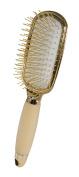 Evriholder Golden Paddle Hairbrush - Gold Elegant Design - Perfect For All Hair Types - Durable Bristles - Soft Grip Handle