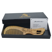 Xuanli The Family Of Hair Comb - Wood with Anti-Static & No Snag Handmade Brush for Beard, Head Hair, Moustache With Gift Box