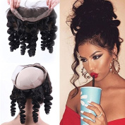 Serafina Pre Plucked Loose Wave 360 Lace Frontal Closure Brazilian Virgin Human Hair Full Lace Frontal with Baby Hair Free Part Natural Colour 110% Density 60cm