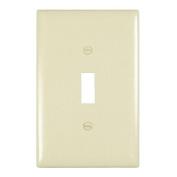 Light Almond Single Gang Switch Wallplate Pass and Seymour TPJ1-LA 785007025125