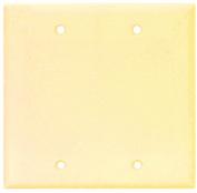 Arrow Hart 2137 Blank Standard Wall Plate, 2 Gang, 10cm - 1.3cm L x 12cm W x 0.2cm T, Ivory