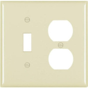 Toggle/Duplex Receptacle Oversize Wall Plate, 2-Gang, Ivory Pass and Seymour