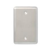 BRAINERD MFG CO/LIBERTY HDW Blank Wall Plate, 1-Gang, Stamped, Round, Satin Nickel Steel