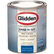 Glidden High Endurance Grab-N-Go Country White Semi-Gloss Interior Paint 0.9l