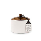 Paddywax Hygge Soy Wax Tobacco and Vanilla Candle in Pot with Copper Lid, 150ml, White