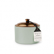 Paddywax Hygge Soy Wax Wild Fig and Cedar Candle in Pot with Copper Lid, 150ml, Sage