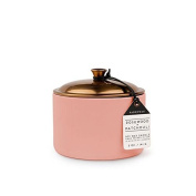Paddywax Hygge Soy Wax Rosewood/Patchouli Candle in Pot with Copper Lid, 150ml, Blush