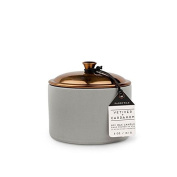 Paddywax Hygge Soy Wax Vetiver and Cardamom Candle in Pot with Copper Lid, 150ml, Grey