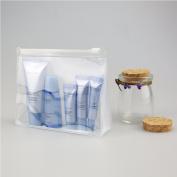 Fashionwu 2PCS Women's Portable Clear Plastic Transparent Cosmetics Bag Travel Bags Makeup Small Personal Stuff Organiser Case