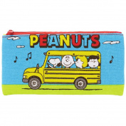 Peanuts Snoopy Slim Pen Pouch Flat M size / School Bus