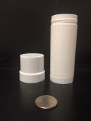 (12) Empty Clear Plastic Deodorant Containers - 70ml Cylinders