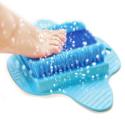 Product Choices Foot Scrubber | Foot Brush Bristles Deep Clean | Massage | Exfoliate & Stimulate Feet | Free Hanging Hook | 100% Recyclable & Perfect Gift Idea | Premium Quality