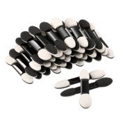 eBoot 100 Pack Disposable Eye Shadow Brush Sponge, Dual Sided Oval Tipped Makeup Applicator Tool