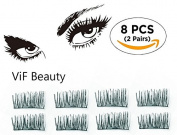 ViF Beauty Magnetic eyelashes, No Glue Magnetic Eyelashes For Natural looking 002