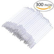 300 PCS Disposable Lip Brushes Clear Lipstick Brushes Gloss Makeup Beauty Tool Kits,Clear