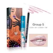 Women Lip Makeup Combo, Lotus.flower 12 Colours Professional Waterproof Lipliner Lip Gloss Kit