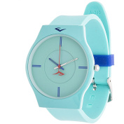 Everlast Analogue Monochrome Sports Watch, Turquoise Silicone Strap