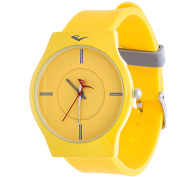 Everlast Analogue Monochrome Sports Watch, Yellow Silicone Strap