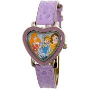 Disney Girl's Disney Princess PRS352 Purple Leather Quartz Fashion Watch