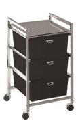 Pibbs D23 Metal Beauty Cart W/ 3 Deep Drawers