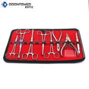 OdontoMed2011 8 PC'S PRO PIERCING TOOL SET BODY PIERCING INSTRUMENTS STAINLESS STEEL ODM
