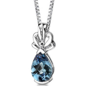 Oravo 3.00 Carat T.G.W. Pear-Shape Created Simulated Alexandrite Sterling Silver Pendant, 46cm