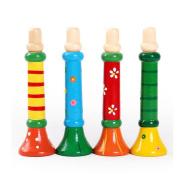 Kid Wooden Trumpet Toy