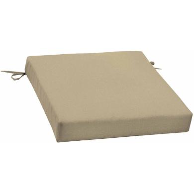 Mainstays Outdoor Patio Dining Seat Cushion, Tan