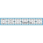 Le Summit 15cm X 2.5cm Quilting Ruler #34061 Clear Acrylic Ruler