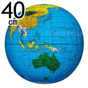 terrestrial globe ball blue 40cm (beach ball) BGP-140 [trip to sea bathing pool summer goods]