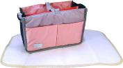 Baby Nappy Bag Caddy Bundle Set Waterproof Changing Pad Liner