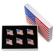 Exquisite American Flag Necktie Clip and Lapel Pin -The Stars and Stripes Lapel Pin