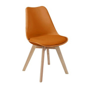Dining Chair Agato, Orange, 52 x 46 x 82 cm