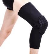 Topeakmart Antislip Basketball Leg Knee Long Sleeve Honeycomb Pad Protector Gear