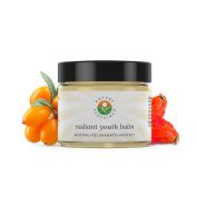 Nature Sustained Organic Radiant Youth Balm (Facial Moisturiser for Oily Sensitive Skin) - 2 Fl. Oz / 59mL – Night Cream Anti-Ageing for Woman - Organic Face Cream for Oily Skin with Retinol