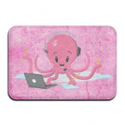 "Cartoon Octopus Rectangular Doormat Bathtub NonSlip Antiskid Diameter 40 X 60cm/15.7 X 23.6"" Memory Foam Rug"