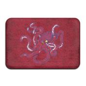 Cartoon Octopus Rectangular Doormat Custom Comfortable Thickness 2-inch(approx. 4.5 Cm) Memory Foam Door Rugs