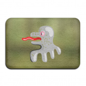 Cartoon Octopus Rectangular Doormat Funny Thin Thickness 2-inch(approx. 4.5 Cm) Memory Foam Rug
