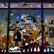 OHTOP Merry Christmas Wall Sticker Holiday Decal Bedroom Living Room Home Window Decor